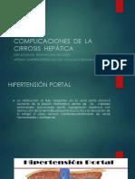 Complicaciones de La Cirrosis Hepatica / Universidad Catolica de Santa María-Arequipa