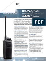 Kenwood Nexedge Nx-240, Nx-340