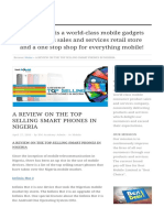 A Review on the Top Selling Smart Phones in Nigeria