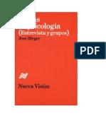 Jose Bleger - Temas de Psicologia (Entrevistas y Grupos)