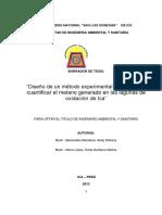 Tesis Ingenieria Ambiental - Cuantificación Del Metano - F