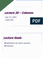 Lecture 20 – Columns