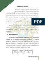 Balance de Energía Del Proceso de Tostación de Concentrados de Sulfuro de Zinc 1