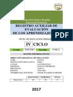 Registro Auxiliar de Evaluacion Del Aprendizaje 2017