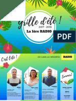 Grille d'été radio 2017