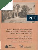 Historia Del Agua en El Valle de Mexico