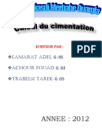 Calcul Du Cimentation G52