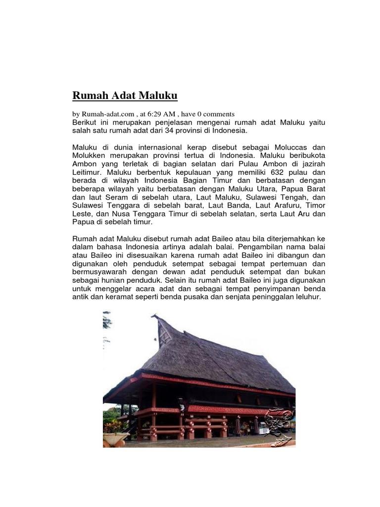 Rumah Adat Papua Kartun Rumah Adat Indonesia