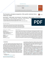The Formation and Physical Properties of the Particle Emissions From a Natural Gas Engine