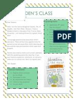 jill h classroom newsletter
