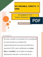 5.- Costeo Variable. Análisis CVU (1)