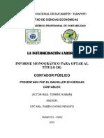 Información de Intermediación Laboral