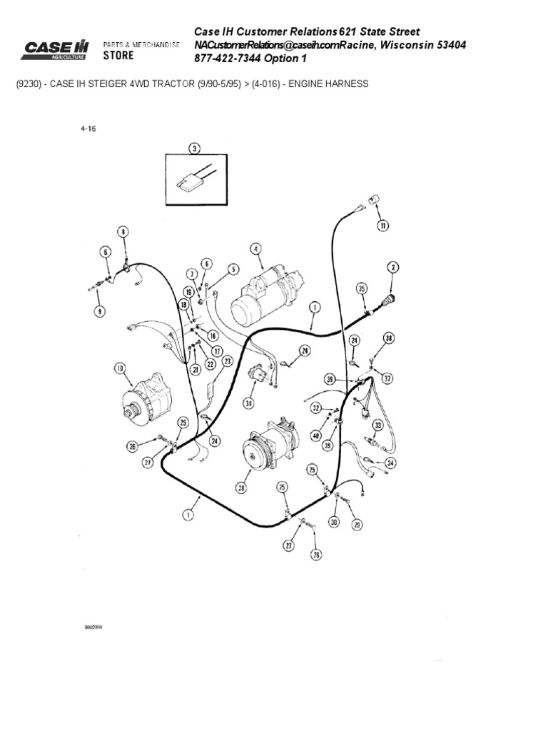9230 Case Ih Wiring Schematic Diagrams 1206 International Tractor Engine Harness Screw Electrical Connector Diagram