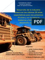 Industria Minera en Los Ultimos 20 Años y Expectativas.