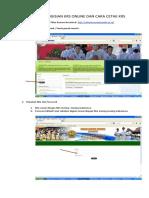 Petunjuk Pengisian Krs Online Dan Cara Cetak Krs