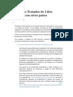 Acuerdos y Tratados Del Pais Con Otros Paises