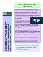 Becoming Your Best Newsletter - August 2010
