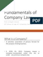 1. Fundamentals of Company Law