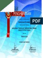 Sijil Anugerah KokurikulumM 2016