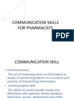 3 Communication Skills for Pharmacists