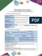 Guía de Actividades y Rúbrica de Evaluación - Tarea 5