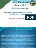 Crecimiento Agropecuario Con Equidad y Neoliberalismo Economico Ok