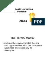 Strategic Marketing Decision