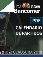 Calendario Clausura 2018