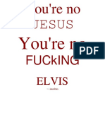 you're no jesus