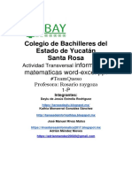 Informatica, Matematicas, Proyecto Transversal