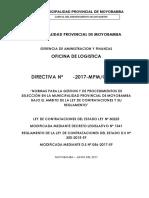 Proyecto Directiva Procedimientos Selecion Mpm 2017 Ok