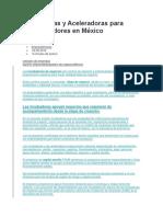 Incubadoras y Aceleradoras Para Emprendedores en México