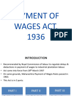 Payment of Wages 1936