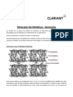 Minerales No Metálicos-Bentonita