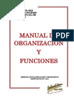 Manual de Organizaciones y Funciones 2017