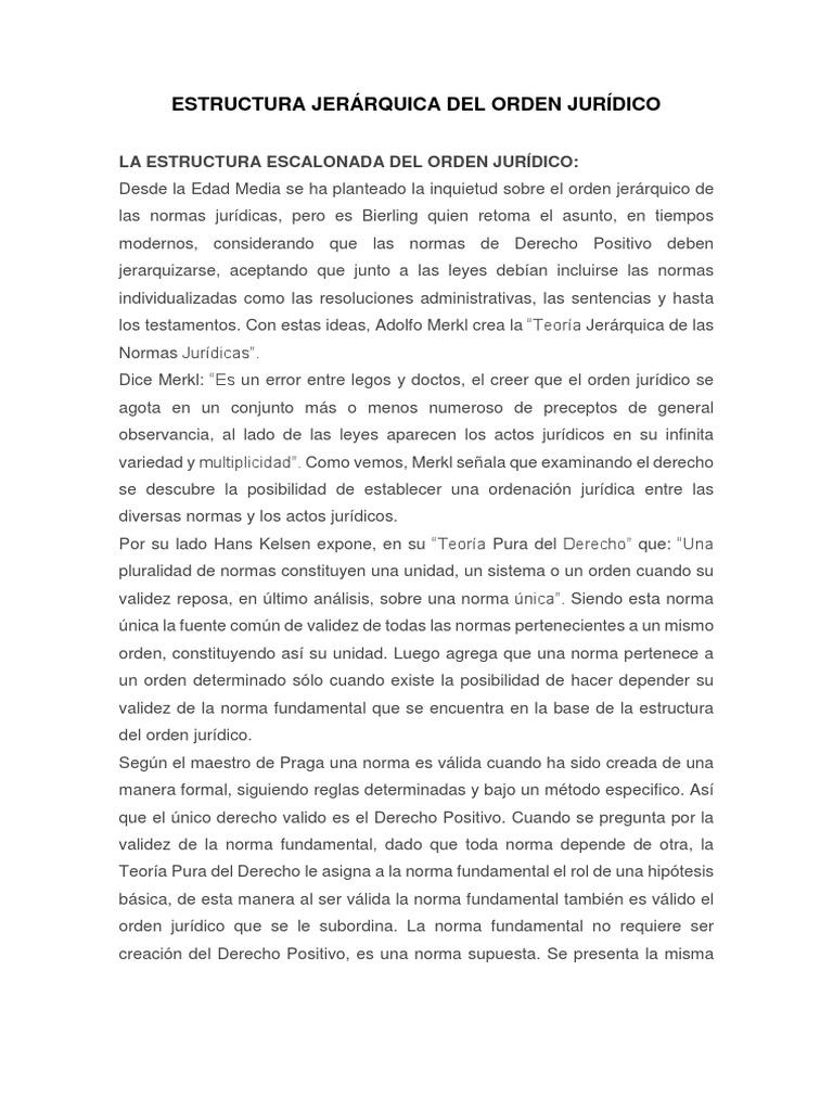 Jerárquica Del Orden Jurídico