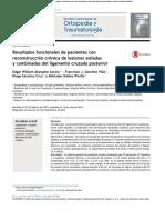 Resultados funcionales de pacientes con reconstrucción crónica de lesiones aisladas y combinadas del ligamento cruzado posterior