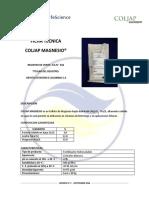 Coljap Magnesio Ficha Tecnica