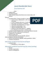 Qualitative Research Checklist
