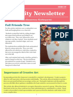 eced 372 lesson plan newsletter