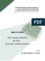 Apuntes de Investigacion de Operaciones Plan LC 2004