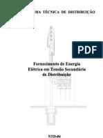 NTD-04 Fornecimento de Energia Elétrica em Tensão Secundária