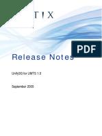 ReleaseNotes Unify3G UMTS Sept2005