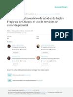 Bienestar Social y Servicios de Salud en La Región Fraylesca de Chiapas - El Uso de Servicios de Atención Prenatal