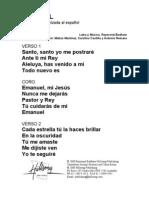 EMMANUEL - Spanish Official Translation
