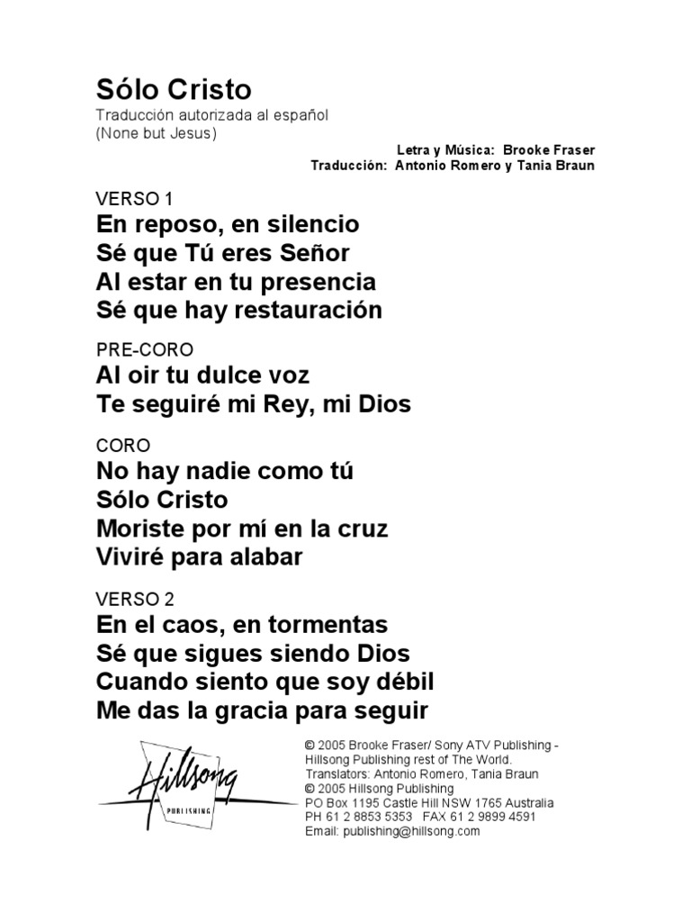 None but jesus spanish official translation hexwebz Choice Image