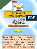 RELACIONES ESTEQUIOMETRICAS
