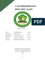 Makalah Mikrobiologi Herpes Tipe i & Hiv
