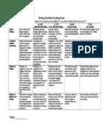 writing portfolio grading form-4