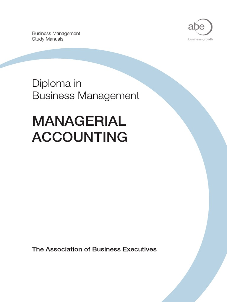 12 Managerial Accounting Txt | Management Accounting | Financial Accounting